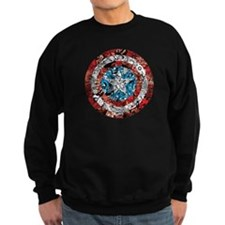 Captain America Shield Collage Sweatshirt