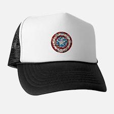 Captain America Shield Collage Trucker Hat