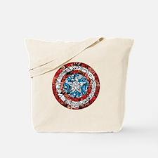 Captain America Shield Collage Tote Bag