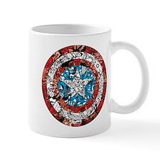Captain America Shield Collage Mug