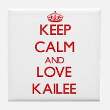 Keep Calm and Love Kailee Tile Coaster
