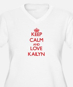 Keep Calm and Love Kailyn Plus Size T-Shirt