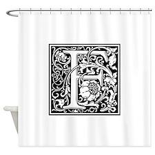 Decorative Letter F Shower Curtain