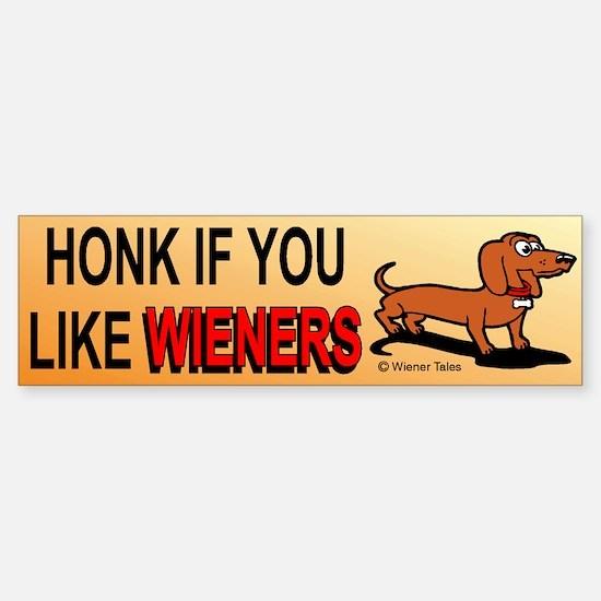 Honk If You Like Wieners Bumper Car Car Sticker