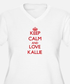 Keep Calm and Love Kallie Plus Size T-Shirt