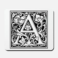 Decorative Letter A Mousepad