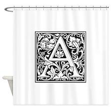 Decorative Letter A Shower Curtain