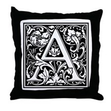Decorative Letter A Throw Pillow