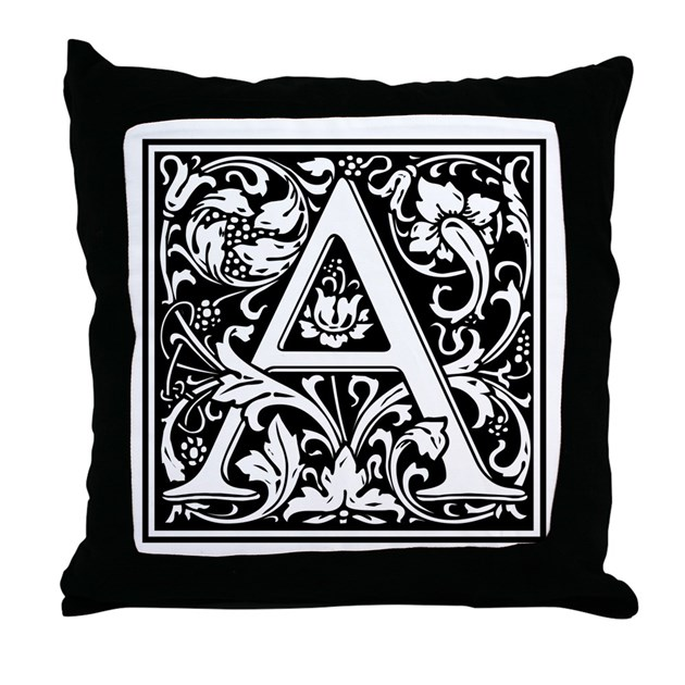 Letter A Throw Pillow : Decorative Letter A Throw Pillow by DecorativeLetters