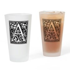 Decorative Letter A Drinking Glass
