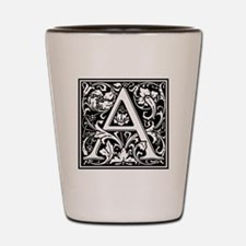Decorative Letter A Shot Glass