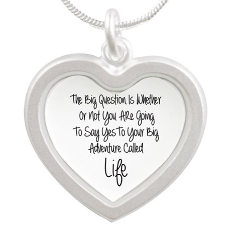 Your Big Adventure Silver Heart Necklace