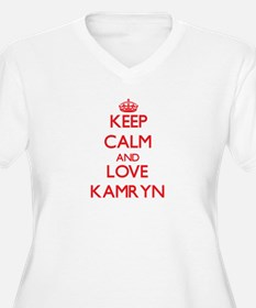 Keep Calm and Love Kamryn Plus Size T-Shirt