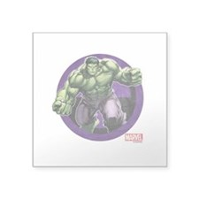 "The Hulk Badge Square Sticker 3"" x 3"""