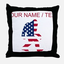 Custom American Bigfoot Throw Pillow