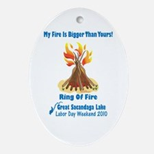 Ring Of Fire 2010 Ornament (oval)