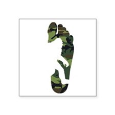 Bigfoot Footprint Camouflage Sticker