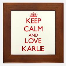 Keep Calm and Love Karlie Framed Tile