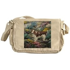 Welsh Springer Spaniel Art Messenger Bag