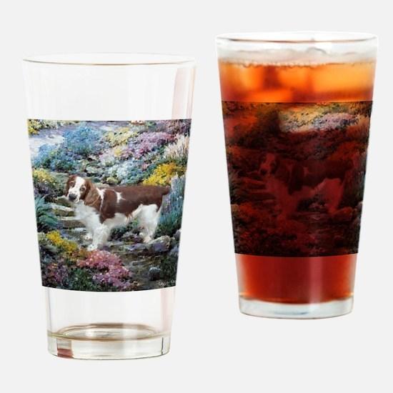 Welsh Springer Spaniel Art Drinking Glass