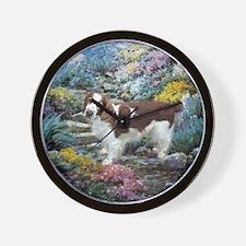 Welsh Springer Spaniel Art Wall Clock