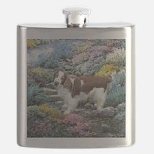 Welsh Springer Spaniel Art Flask