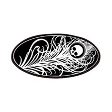 Skull Gothic Peacock Feather Patches