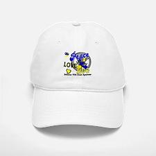 DS Peace Love Hug 2 Baseball Baseball Cap