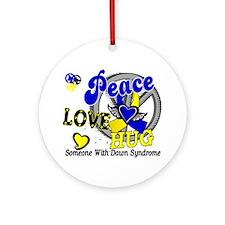 DS Peace Love Hug 2 Ornament (Round)