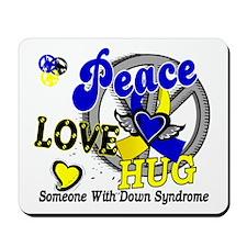 DS Peace Love Hug 2 Mousepad