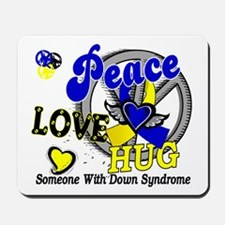 DS Peace Love Hug 2 Mousepad