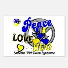 DS Peace Love Hug 2 Postcards (Package of 8)