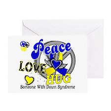 DS Peace Love Hug 2 Greeting Card