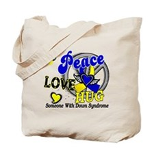 DS Peace Love Hug 2 Tote Bag