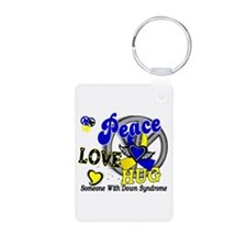 DS Peace Love Hug 2 Aluminum Photo Keychain