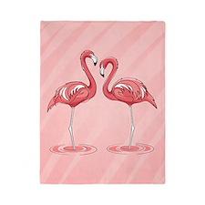 Pink Flamingos Twin Duvet