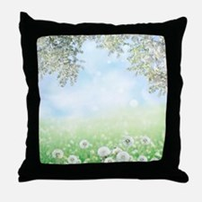 Dandelion Field Throw Pillow