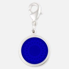 Cobalt Blue Floral Kaleidoscope Charms