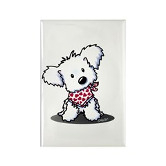 Cutie Pie Maltese Rectangle Magnet (100 pack)