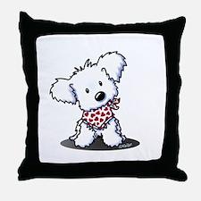 Cutie Pie Maltese Throw Pillow