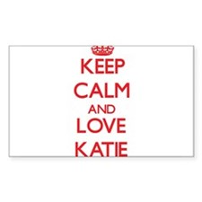 Keep Calm and Love Katie Decal