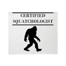 Certified Squatchologist Throw Blanket