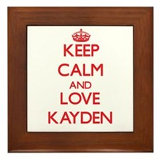 Keep Calm and Love Kayden Framed Tile