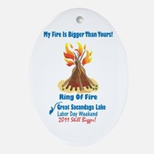 Ring Of Fire 2011 Ornament (oval)
