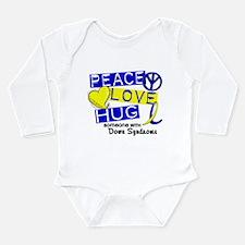 DS Peace Love Hug 1 Long Sleeve Infant Bodysuit