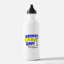DS Peace Love Hug 1 Water Bottle