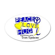 DS Peace Love Hug 1 Wall Decal
