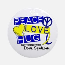 DS Peace Love Hug 1 Ornament (Round)