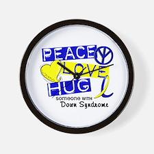 DS Peace Love Hug 1 Wall Clock