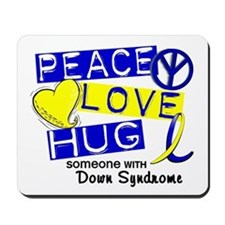 DS Peace Love Hug 1 Mousepad